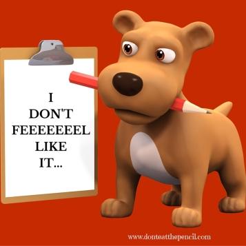 I dont feel like it